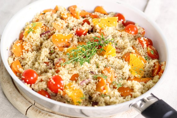 Tomato, Orange and Peach Quinoa Salad