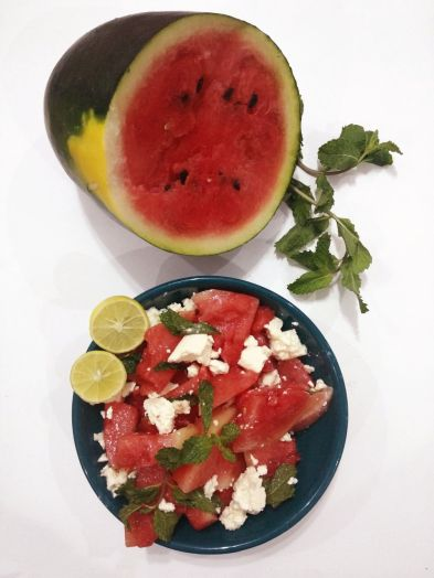 Watermelon- Feta Cheese Salad