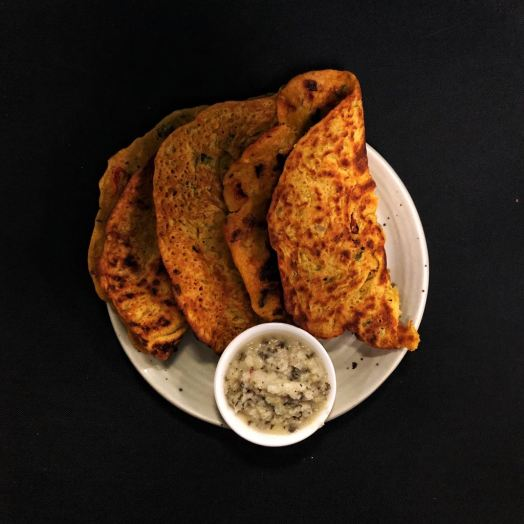 Chickpea Flour – Oats Crepes (Besan-Oats Cheela)