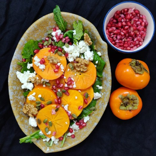 Persimmon-Pomegranate Salad