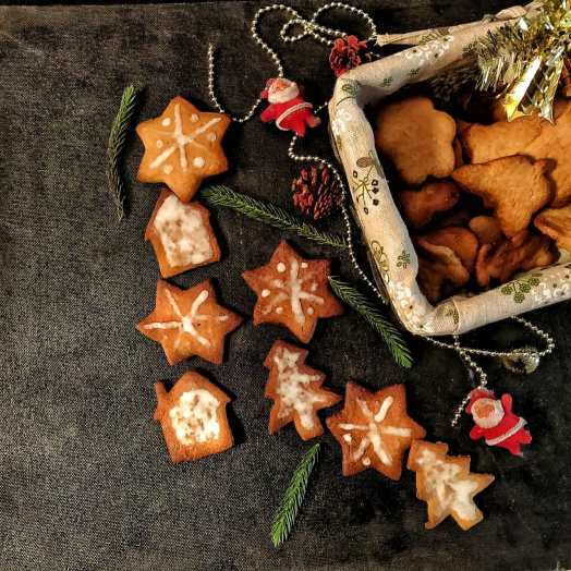 Eggless Christmas Butter Cookies